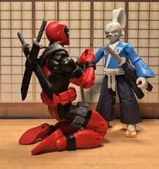 Please! Please! Pleeeeeseeee! Show me the way of the Samurai Rabbit! (chevy2who) Tags: marvellegends redpool legends actionfigures comics marvel tent yojimbo deadpool toyphotography toy