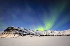 Light sail (georgemoga) Tags: aurora auroraborealis iceland mountain night northernlights sky snow stars easternregion is