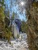 Hitonhauta, frozen water (livejungle) Tags: finland laukaa suomi hitonhauta glacier icicle trees wood suns lens flare spring snow jää jääpuikko jäätikkö lumi kevät rock tree waterfall sky d850 ice travel matkailu nikon24120mm ravine gorge