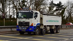 MX08 BVH (Martin's Online Photography) Tags: hino tipper truck wagon lorry vehicle freight haulage commercial transport bulk a580 leigh lancashire nikon nikond7200