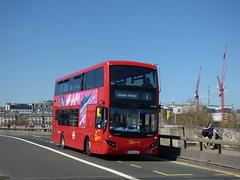 EvoSunny (londonbusexplorer) Tags: goahead london volvo b5lh mcv evoseti mhv85 bv66vkf 1 tottenham court road canada water tfl buses
