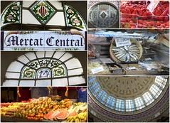 Markttag-market day (Anke knipst(offline)) Tags: valencia spanien spain markthalle mercat collage fenster windows obst fruit fisch fish kuppel dome explored