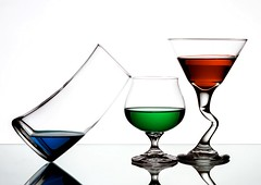 3 Amgios (Karen_Chappell) Tags: glass white rgb red green blue liquid glasses stilllife