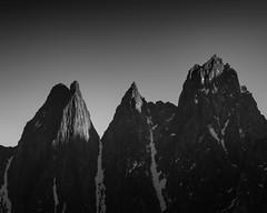The Devils Teeth (Senja) (eriknst) Tags: bw norway nikon senja arctic north winter sunrise mood sky mountain peaks landscape zoom 70200 tamron sirui d810