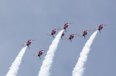 To The Stars (Bernie Condon) Tags: redarrows reds arrows raf rafat royalairforce formation team aerobatic bae hawk trainer jet military warplane