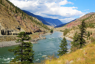 Thompson River Canyon Landscape, from the Rocky Mountaineer, British Columbia, Canada