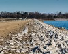 Hitch Hiker on a lonely road . . . (Dr. Farnsworth) Tags: birds seagulls snowyowl wastewater road gravel rocks muskegon mi michigan spring march2018