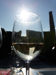 White wine, at the beach with the 1st sun of Spring (Red Cathedral [FB theRealRedCathedral ]) Tags: zest depanne glass wine lapanne sun