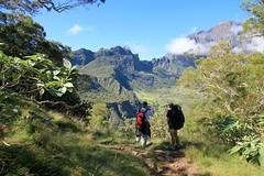hiking in Mafate, pic EMMANUEL VIRIN