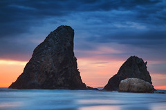 Rise At Glasshouse || NAROOMA || NSW (rhyspope) Tags: australia aussie nsw new south wales coast coastal water sea ocean marine sunrise sunset sky clouds glasshouse rocks eurobodalla rhys pope rhyspope canon 5d mkii beach nature explore weather color colour waves long exposure le