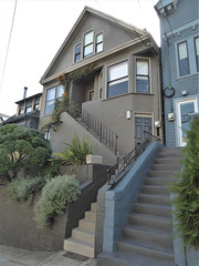 San Francisco, CA, Noe Valley, Victorian House (Mary Warren 13.5+ Million Views) Tags: sanfranciscoca noevalley architecture building house residence victorian stairs garden nature flora plants