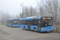 BKV Zrt NGC-144 & NUV-695 (Will Swain) Tags: hűvösvölgy budapest 7th january 2018 bus buses transport travel vehicle vehicles county country central capital city centre hungary europe bkv zrt ngc144 nuv695