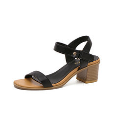 Women Summer Outdoor Beach Leather Retro Vintage Peep Toe Buckle Chunky Heel Sandals (1067057) #Banggood (SuperDeals.BG) Tags: superdeals banggood bags shoes women summer outdoor beach leather retro vintage peep toe buckle chunky heel sandals 1067057