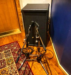 Standing at Attention (Pennan_Brae) Tags: musicproduction amp microphone microphones guitaramplifier guitaramp recordingsession recordingstudio musicphotography musicstudio recording music amplifier