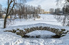 Cascade bridge, The Palace and Cool Bathhouse in Pavlovsk park on winter morning. (g_reg_walker) Tags: russia pavlovsk saint petersburg winter bridge cascade architecture building construction colonnade apollo view perspective morning landscape scenery stone park slavyanka river sky travel excursion sights sightseeing stroll tourism tourist trip walk palace