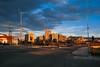 (Dusan Jovanovic) Tags: outdoors city buildings nish nikond40 serbia concrete blocks sky sunset