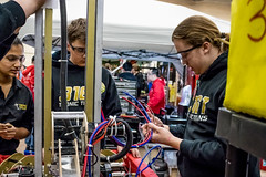 IMG_3351 (holytrinityrobotics) Tags: first omgrobots waterloo canada friday robot frc people light dark mechanical electronic competition frconwat robotics ontario oakville