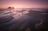 Holywell Bay (David Haughton) Tags: holywellbay newquay cornwall sunset evening sand streams islands chicks lowtide goldenhour pinksky beach