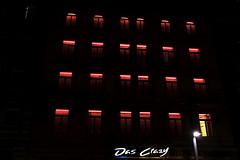 One Off (Novowyr) Tags: windows redlight serial curtains night city street architecture nacht stadt escape break free freedom offduty oneyellowwindow novowyr carlzeiss seriell rotlicht prostitution