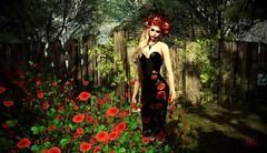 Red Flowers (☀Vita Camino☀) Tags: sl vitacamino texture ground sim rentals slur best visit park forest italy rustic terrain malina secondlife coldlogic