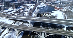 Minneapolis Skyline - Hyperlapse in 4K - Aerial View (Gian Lorenzo) Tags: city lapse traffic road highway urban building timelapse street car skyline view landscape architecture speed bridge overpass transportation transport travel motion expressway business minneapolis midwest twin cities clear sky cloudscape us commercial exterior sunny snow spring skyscraper