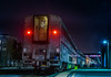 the starlight express overnight to los angeles (pbo31) Tags: bayarea california night dark spring boury pbo31 2018 color jacklondonsquare oakland eastbay alamedacounty black amtrak station train rail starlight express stop board red motionblur