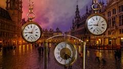 Take the time to visit Brussels (YᗩSᗰIᘉᗴ HᗴᘉS +14 000 000 thx) Tags: creative bruxelles brussels art time clock hensyasmine namur belgium europa aaa namuroise look photo friends be wow yasminehens interest intersting eu fr greatphotographers lanamuroise fujifilm gfx 50s fujifilmgfx50s