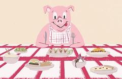 Cincinnati CityBeat Best Of (Davidjwilson) Tags: editorialillustration pigs cincinnaticitybeat davidwilson color cute fun humor