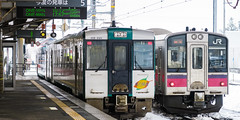 Shinjo Station 005 (A.S. Kevin N.V.M.M. Chung) Tags: japan tohoku ou 奧羽本線 新莊 shinjo jr東日本 jreast 701series 112series
