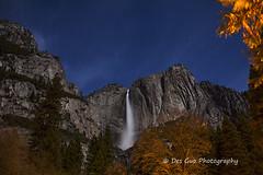 Yosemite Falls by Moonlight (PhotoDG) Tags: yosemitefalls moonlight moon sky nightphotography landscape nightscape water waterfall yosemitenationalpark nationalpark rock star nightsky longexposure yosemitevalley
