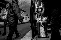 Mind the gap (Mustafa Selcuk) Tags: blackandwhite bnw bw monochrome monochromatic fujifilmtr fujifilmfrance fuji street streetphotography streetphotographer fujifilm moody baffled noiretblanc noiretblancphotographie parisian