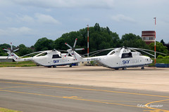 Russian Helicopters (Aviation and more) Tags: ra06032 ra06041 skytech milmi26 russian helicopter helicopters charleroi airport crl tarmac static parked apron sky outdoor metal heavy