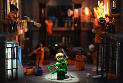 Green Arrow: Escape from Supermax (Andrew Cookston) Tags: lego dc comics oliver ollie queen the green arrow supermax super max penitentiary prison riot superhero custom minifigure minifigures minifig minifigs macro stilllife photography andrew cookston andrewcookston