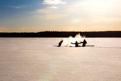 snow games on ice (VisitLakeland) Tags: outdoor snow winter people finland metsäkartano day light sunny ulkoilu talvi lumi