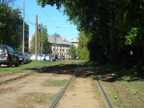 Трамвайные рельсы в Калининграде ©  ayampolsky