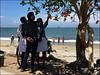 Fort Kochi - MG Beach (Christian Lagat) Tags: inde india cochin kochi fortkochi beach ocean hommes men filles girls pêcheur fisherman arbre tree