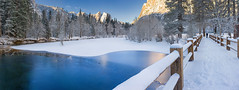 A Morning Walk (mikeSF_) Tags: california yosemite national park ynp snow winter capitan sentinel swingingbridge bridge merced mikeoria wwwmikeoriacom meadow white blue yosemitenationalpark swinging mercedriver tuolumne