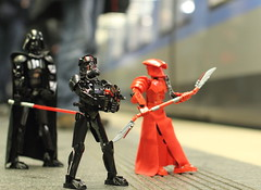 Getting the gang home (kwaklog) Tags: darth vader star wars lego subway travel