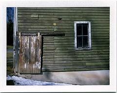 (babireley) Tags: polaroid250 fujifilmfp100c barn winter