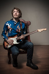 Isaac (James Billson) Tags: musician portraits music guitar fender squire stratocaster studio lighting flash speedlight minnesota chanhassen canon 7d