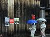 rainy day_1 Hanamikoji-dori Street Kyoto (atria2718) Tags: japan nippon kyoto 日本 京都 hanamikojidori street rain umbrella women 花見小路 雨 傘 boardfence kimono japanesestyle 着物