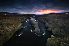 Godafoss River (FredConcha) Tags: godafoss night stars clifs rocks volcanic nature landscape fredconcha d800 nikon iceland river