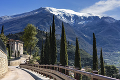 Arco (blichb) Tags: 2018 arco berg burg frühling gardasee italien lagodigarda reise rilkepromenade sonya7rii trentino urlaub zeissloxia235 zypresse blichb schnee trentinoaltoadige it