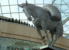 Packhorse Sculpture at Trinity Shopping Centre, Leeds (Tony Worrall) Tags: britain english british gb capture buy stock sell sale outside outdoors caught photo shoot shot picture captured city england regional region area northern uk update place location north visit county attraction open stream tour country welovethenorth statue leeds yorkshire art arty publicart trinity horse mall shoppingcenter packhorse silver metal sculpture shopping centre andyscott andy scott