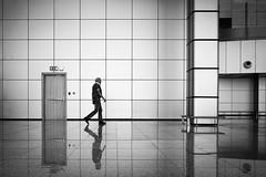 Tiles (Hans-Jörg Aleff) Tags: egypt hansjörgaleff hurghada airport blackwhite streetphotography tiles
