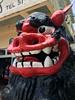 Restaurant God Mascot (cowyeow) Tags: okinawa japan asia asian japanese travel funny odd weird funnyjapan red shinto god scary face statue restaurant religion faith belief kouriisland kouri island