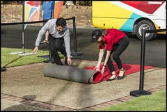 Rolling out the carpet for Queens Relay Baton= (Sheba_Also 13 Million views) Tags: rolling out carpet for queens relay baton
