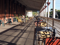 Palace Hotel Broken Hill: verandah adjoining our suite: nice place for a solitary breakfast (wombalano) Tags: brokenhill palacehotel wombalano veranda