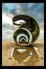 Mary's Shell Cleveleys 5 (Dave.Jasper) Tags: marys shell cleveleys tokina 1116mm nikon d3300 blackpool sculpture 2018 evening lancashire statue surreal beach cloudscape golden hour shore shoreline water blur line