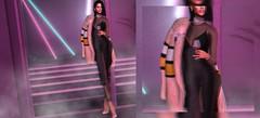 Dream Sequence (Roxy Olsonne) Tags: fashion fur slfashionblogger fashionable fashionforward fashionweek stylish trendy glam alook luxury trendsetter black pink mustard bodysuit fierce chic